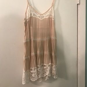 Free people intimately tan lace tank